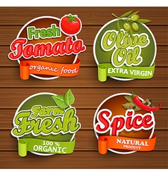 Farm fresh organic food label vector