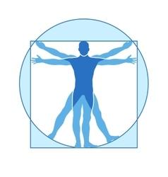 Human body icon of vitruvian man vector image vector image