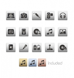 media and entertainment icons vector image vector image