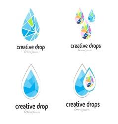 Water drop logo vector image vector image