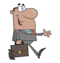 African American Businessman Walking vector image vector image