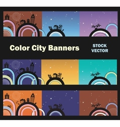 City theme vector image vector image