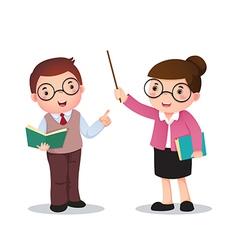 Profession costume of teacher for kids vector image
