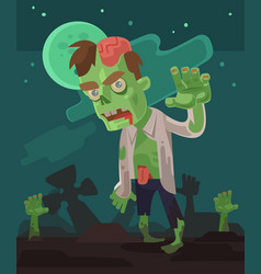 angry hungry zombie men character walking vector image vector image