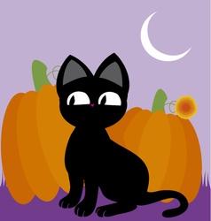 Black cat 2 vector