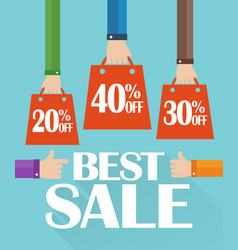 Flat design best sale shopping bag vector