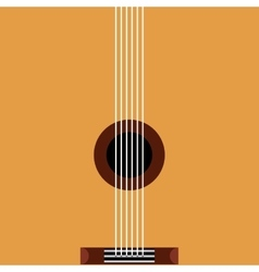 guitar acoustic pop art style vector image vector image