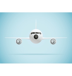 Plane in front vector image