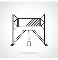 Road advertising line icon vector image vector image