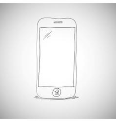 Smart phone sketch vector image