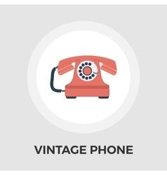 Vintage phone flat icon vector image