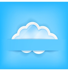 blue background with cloud vector image
