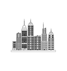 building towers high town image outline vector image vector image