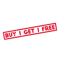 Buy 1 get 1 free rubber stamp vector