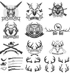 Deer hunting club vector image vector image