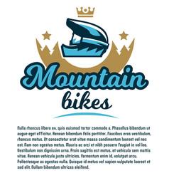 invitation to participate in downhill mountain vector image vector image