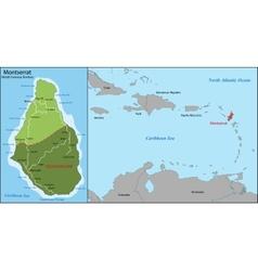 Montserrat map vector image vector image