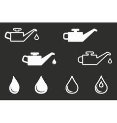 Oil icon set vector image vector image