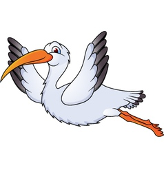 stork in flight vector image vector image