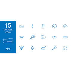 15 set icons vector