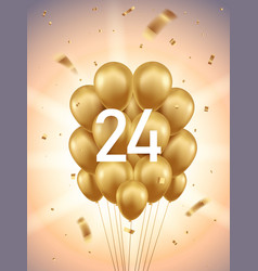 24th year anniversary background vector image