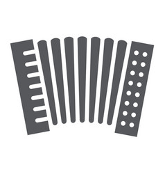 Accordion glyph icon music and keyboard national vector