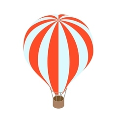 Air balloon icon isometric 3d style vector image