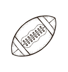 american football ball isolated coloring book vector image