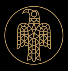 Ancient image raven vector