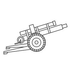 Artillery gun icon outline style vector