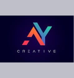 Ay logo letter design with modern creative vector