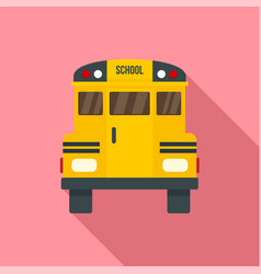 back of old school bus icon flat style vector image