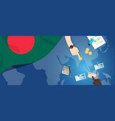 bangladesh daka economy fiscal money trade concept vector image