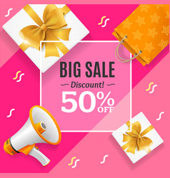 Big sale banner card or poster vector