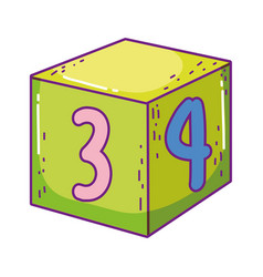 block with number toy vector image