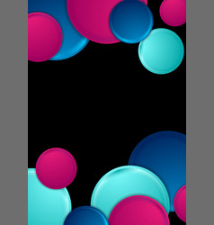 Blue purple circles abstract geometric background vector