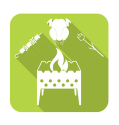 brazier zephyr kebab and chicken icon vector image