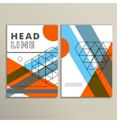 brochure template design with lines and vector image