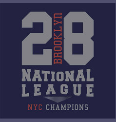 Brooklyn national league vector