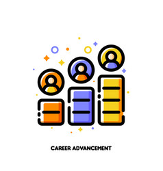 Career advancement icon for corporate management vector