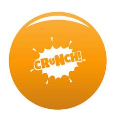 Comic boom crunch icon orange vector