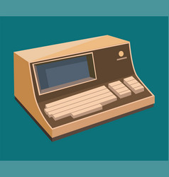 Computer technology retro display vector