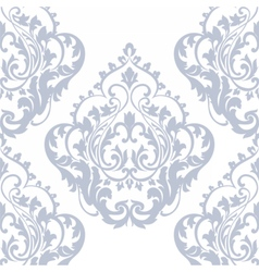 Damask pattern ornament in serenity blue color vector