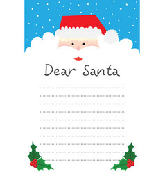 dear santa writing letter to santa claus vector image