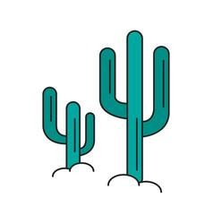 desert cactus icon cartoon style vector image