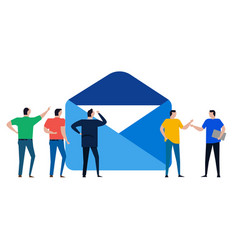 email envelope team office discuss about message vector image