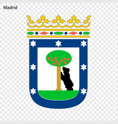 Emblem of madrid city of spain vector