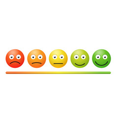 Emotion feedback scale on white background vector