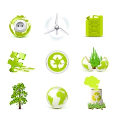 environmental icons - bella series vector image