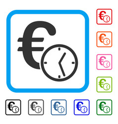 euro credit framed icon vector image
